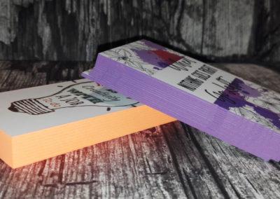 Δείγμα εκτύπωσης λαμιναριστής κάρτας με βαμμένο σόκορο