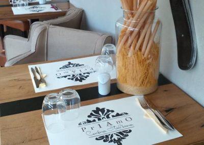 Eκτύπωση σουπλά μιας χρήσεως για εστιατόριο  Χαρτί 100gr σαμουά Πιστοποιημένο για επαφή με φαγητό