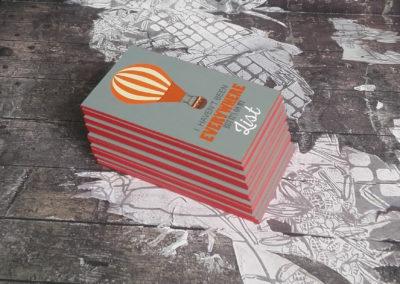 Επαγγελματικές κάρτες με λαμινάρισμα και βαμμένο σόκορο
