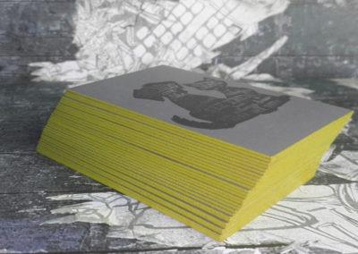 Δείγμα εκτύπωσης κάρτας λαμιναριστής με 2 χαρτιά 700gr και βαμμένο σόκορο