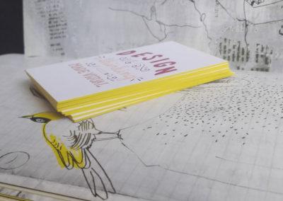 Δείγμα εκτύπωσης κάρτας λαμιναριστής με 2 χαρτιά (2x350gr Velvet) και βαμμένο σόκορο