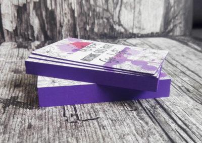 Δείγμα εκτύπωσης λαμιναριστής κάρτας 700gr με βαμμένο σόκορο