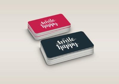 εκτύπωση κάρτας με καλούπι