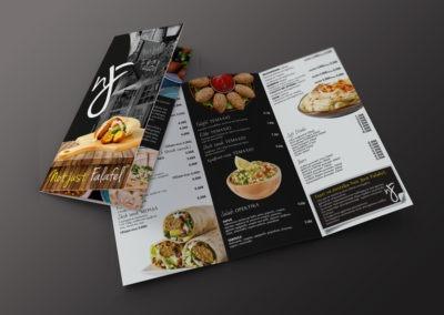 Διαφημιστικά έντυπα για Restaurant σε πολυτελές χαρτί και με εξαιρετική εκτύπωση.