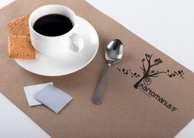 Kraft σουπλά μιας χρήσεως σε χαρτί 70gr, πιστοποιημένο για επαφή με φαγητό.