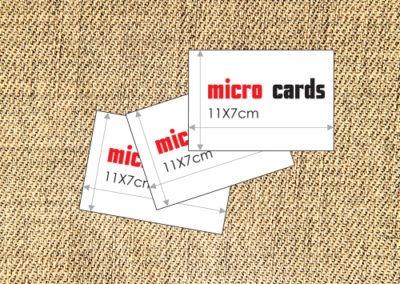 Επαγγελματικές κάρτες micro