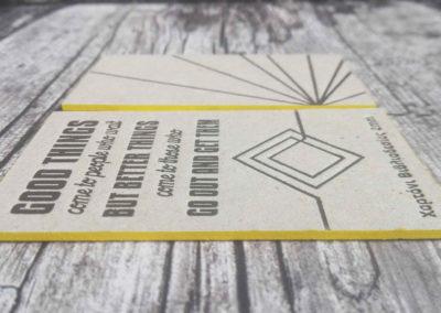 Letterress σε χαρτόνι βιβλιοδεσίας 2mm με βαμμένο σόκορο