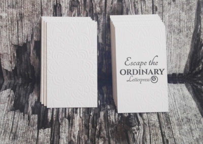 Letterpress business card σε Sumo 1.5mm