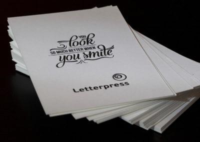 Letterpress σε ειδικό χαρτί