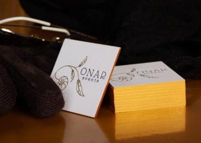 Επαγγελματική κάρτα με letterpress και χρυσοτυπία