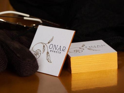 Επαγγελματική κάρτα με letterpress & χρυσοτυπία