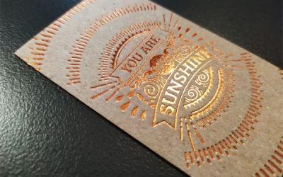 Επαγγελματικές κάρτες σε ανακυκλωμένο χαρτί