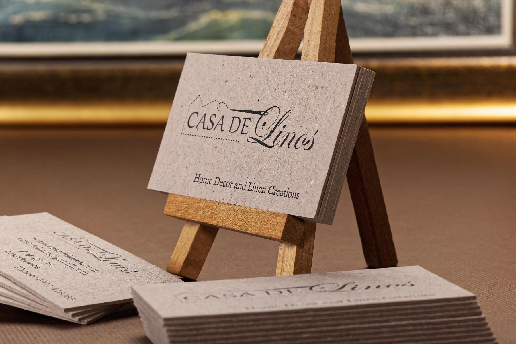 Επαγγελματική κάρτα με Letterpress σε χαρτί Γκρι Γκρι
