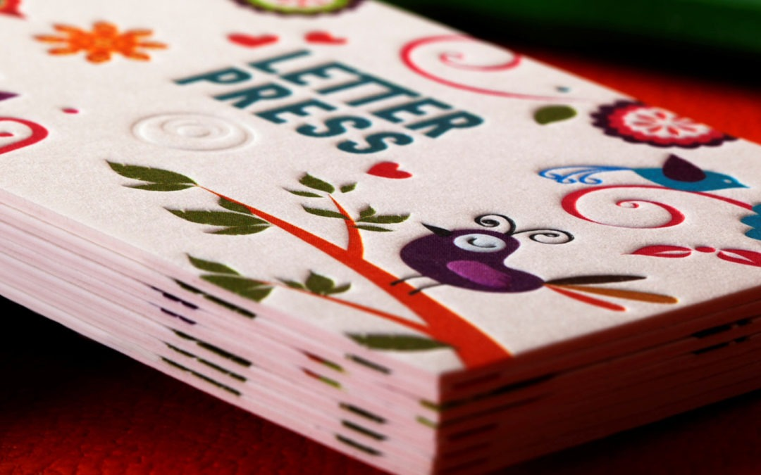 Λαμιναριστή Κάρτα 4χρωμη & Letterpress