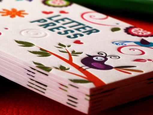 Λαμιναριστή Κάρτα 4χρωμη και Letterpress