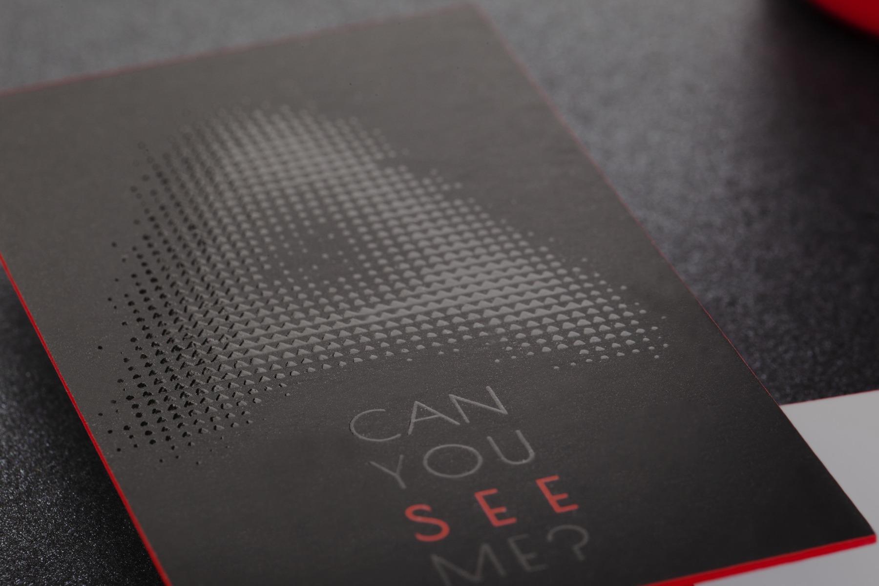 offset εκτύπωση κάρτας σε velvet