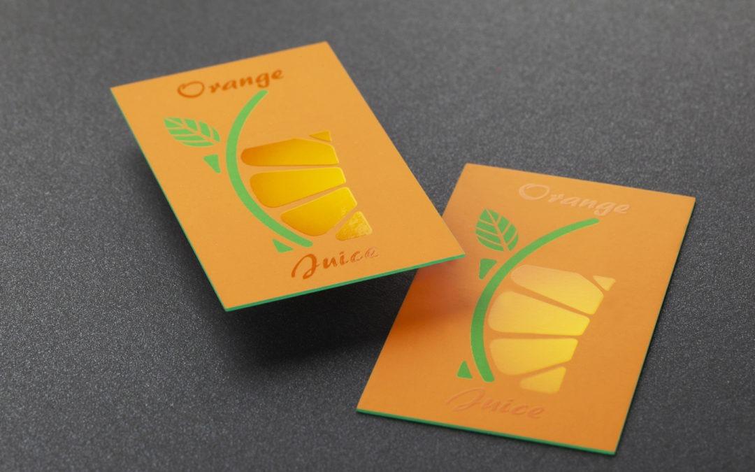 Λαμιναριστές κάρτες με uv & βαμμένο σόκορο