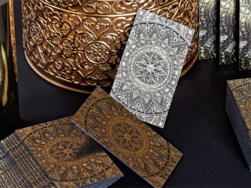 κάρτα με χρυσοτυπία σε χαρτί sumo nero