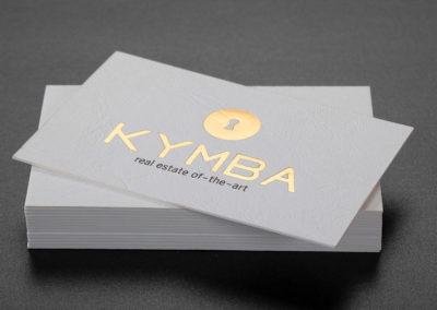Λαμιναριστές επαγγελματικές κάρτες με χρυσοτυπία και εκτύπωση offset