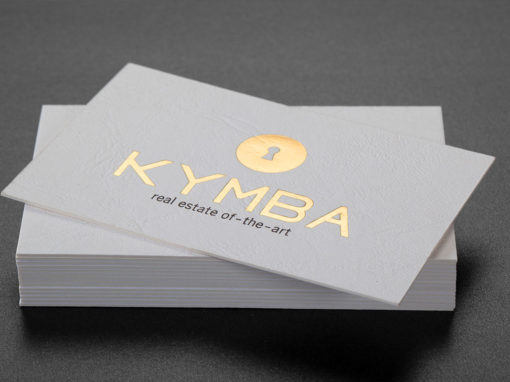 Λαμιναριστή κάρτα με χρυσοτυπία και εκτύπωση offset