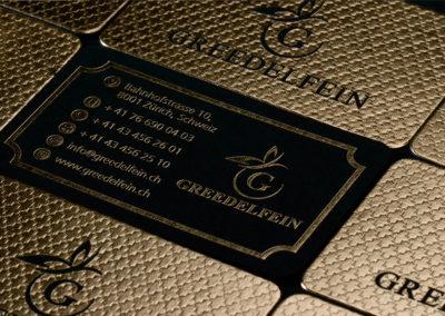 Επαγγελματική κάρτα με χρυσοτυπία, letterpress και στρογγυλεμένες γωνίες