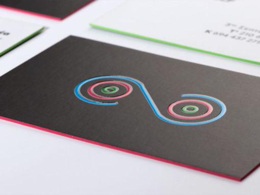 Λαμιναριστές κάρτες με 3D UV και βαμμένο σόκορο