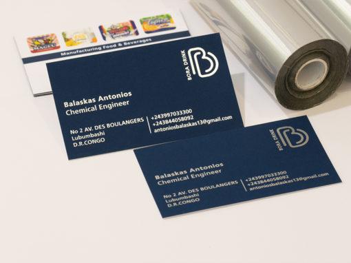 Λαμιναριστή κάρτα με ασημοτυπία και 3D UV