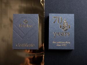 Κάρτα με χρυσοτυπία και τυφλό letterpress
